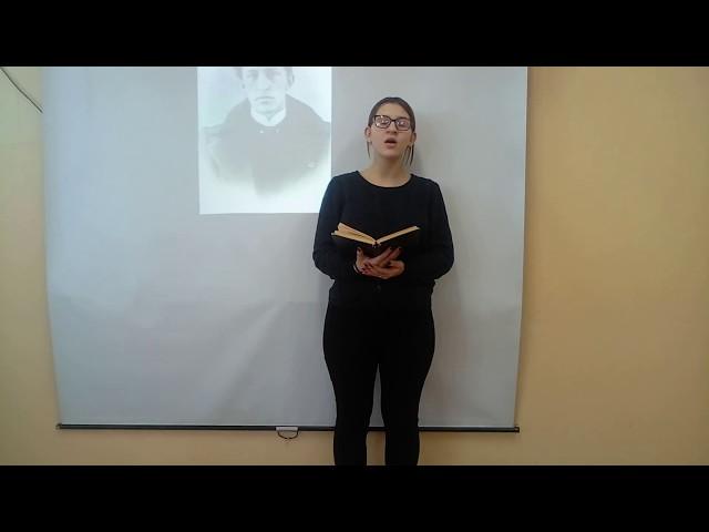 Изображение предпросмотра прочтения – АнастасияРешетнева читает произведение «Россия» А.А.Блока