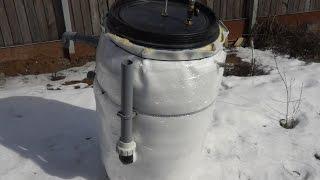 биогаз из бочки - схема биогазовой установки для частного дома(Биогазовая установка из бочки, выполненная из максимально бюджетных материалов и предназначена для перера..., 2016-03-21T18:42:17.000Z)