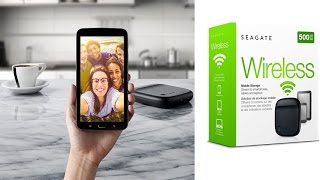 Seagate Wireless Mobile Portable Hard Drive Storage 500GB Wirelessly Stream Favorite Content Anywher