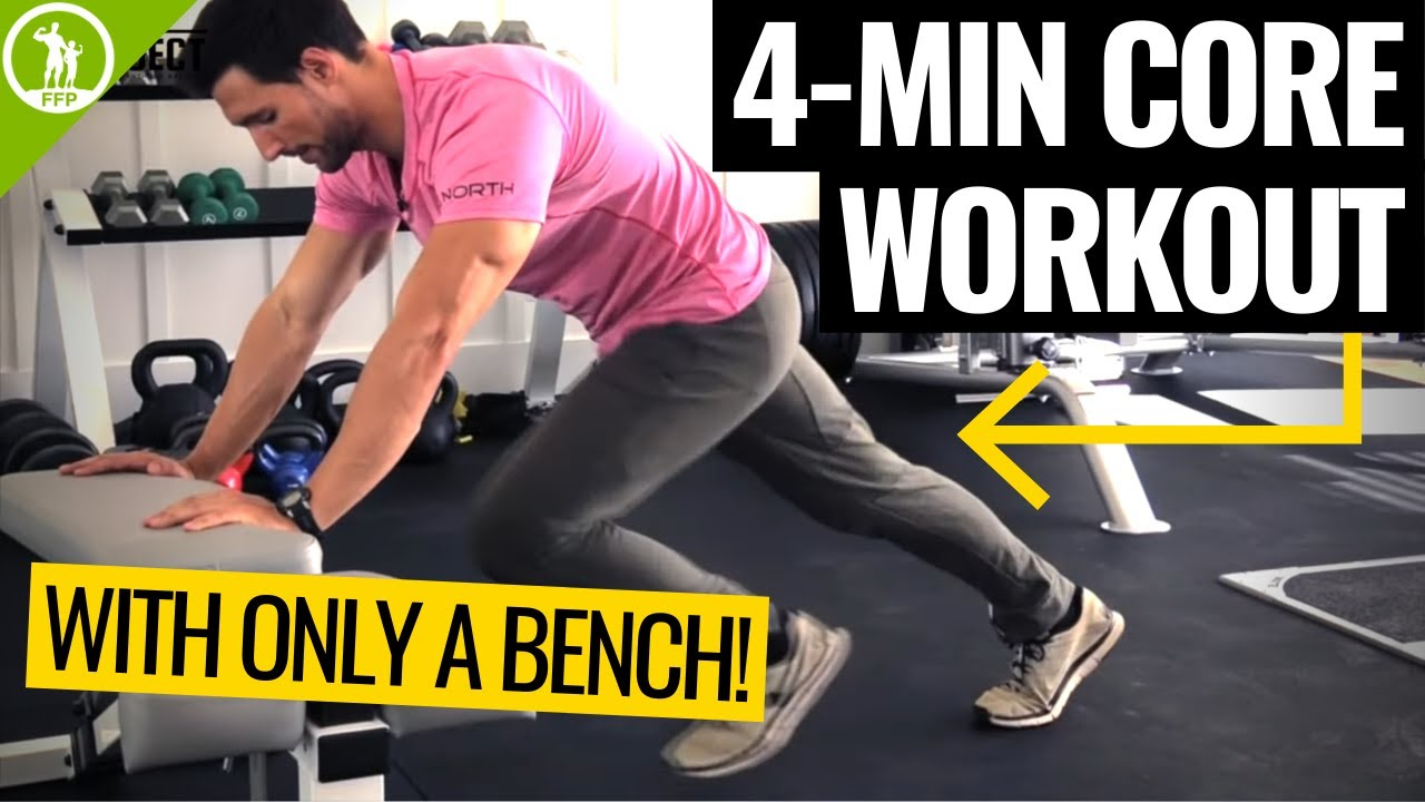 4-MIN Ab Workout With a Bench | QUICK Core Bench Workout