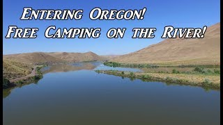 Entering Oregon Free Camṗing on River Area VanLife On the Road