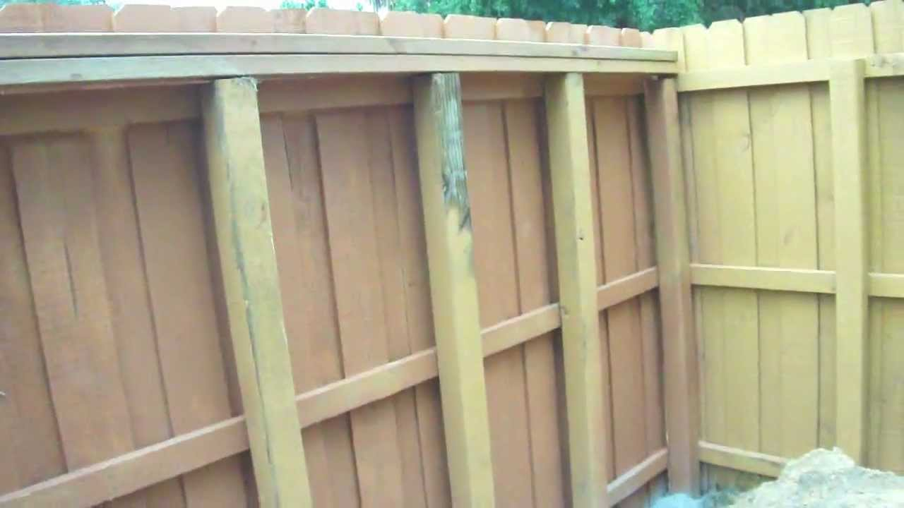 how to build a hurricane proof fence youtube. Black Bedroom Furniture Sets. Home Design Ideas