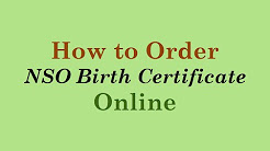 How to Order NSO Birth Certificate Online