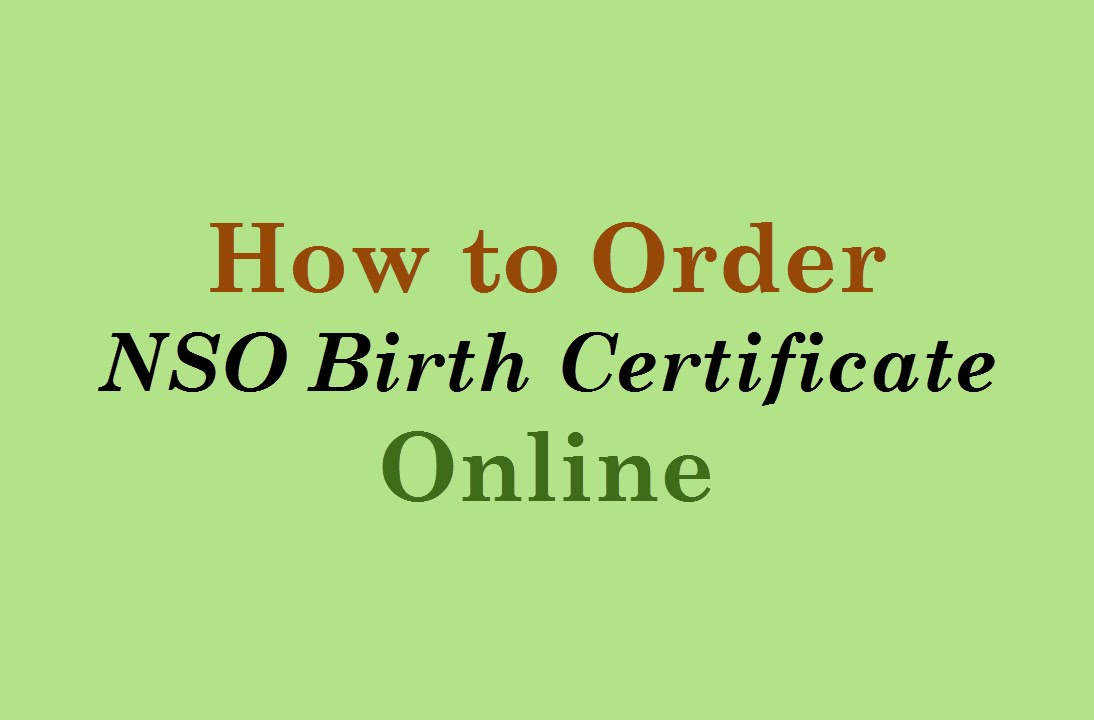 How to Order NSO Birth Certificate Online - YouTube