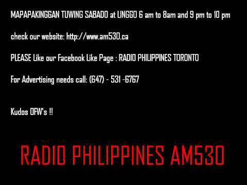 June 14, RADIO PHILIPPINES TORONTO AM530; 6 am to 8 am show