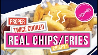 DO YOU MAKE YOUR REAL CHIPS LIKE THIS ? TWICE COOKED | REAL CHIPS, HAND CUT, HOMEMADE CHIPS   🥔🍟😱