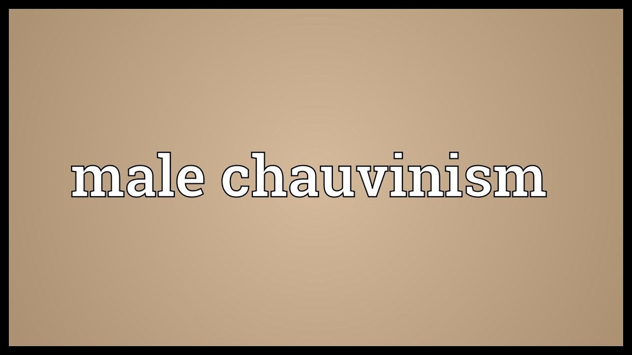 male chauvinism 'unfortunately, male chauvinism has found support in ideas expressed by some theologians who have defended the inferior role of women with arguments for their inferior nature.