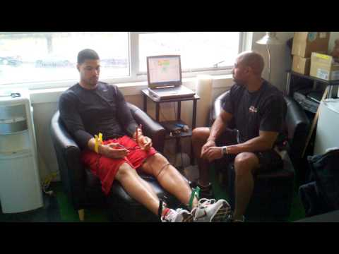 Xtreme Athlete Jason Campbell getting Omegawave tested
