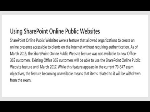 70-347 Objective 2.2 Create SharePoint site collection