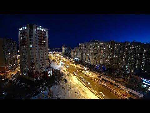 Вечерний Оренбург, ул. Салмышская  – таймлапс / Evening Orenburg - Timelapse