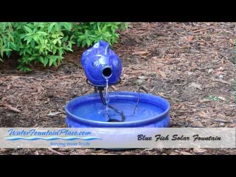 Directions For The Blue Glazed Fish Solar Fountain