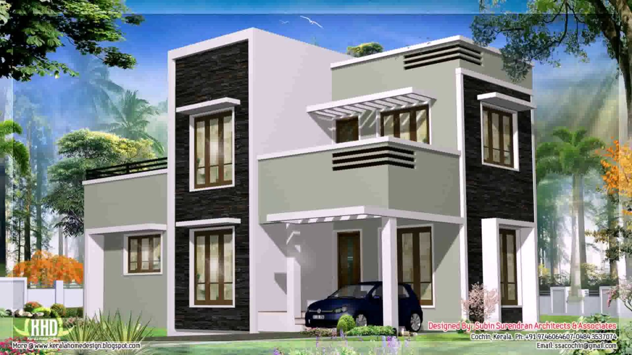 Kerala style modern house photos and plans youtube