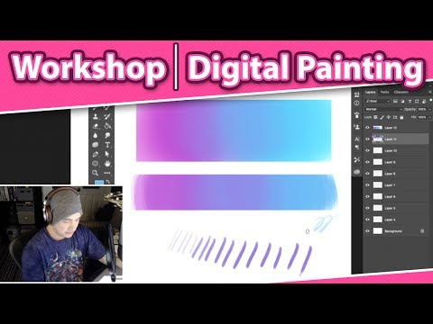 Livestream Photoshop Tutorials and Open Questions – Digital Painting Workshop