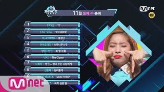 what are the top10 songs in 2nd week of november m countdown 161110 ep 500
