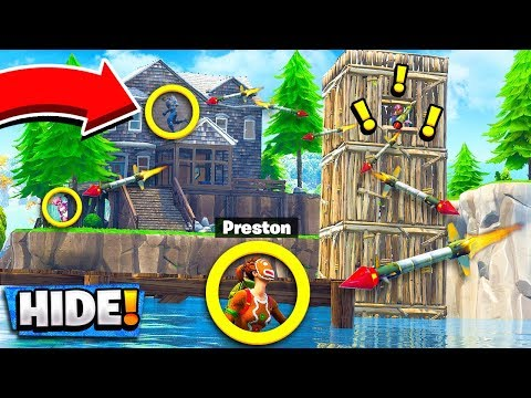 *NEW* GUIDED MISSILE HIDE & SEEK! Custom Gamemode in Fortnite Playground Mode!