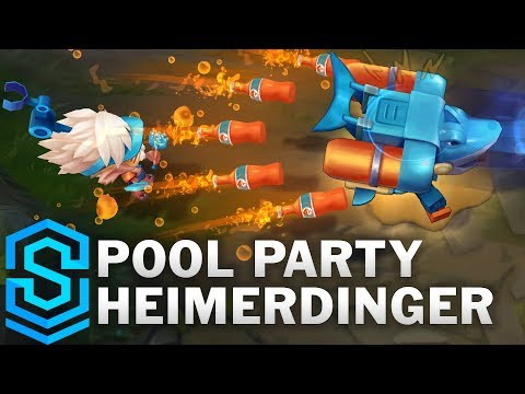 Pool Party Heimerdinger Skin Spotlight - Pre-Release - League of Legends