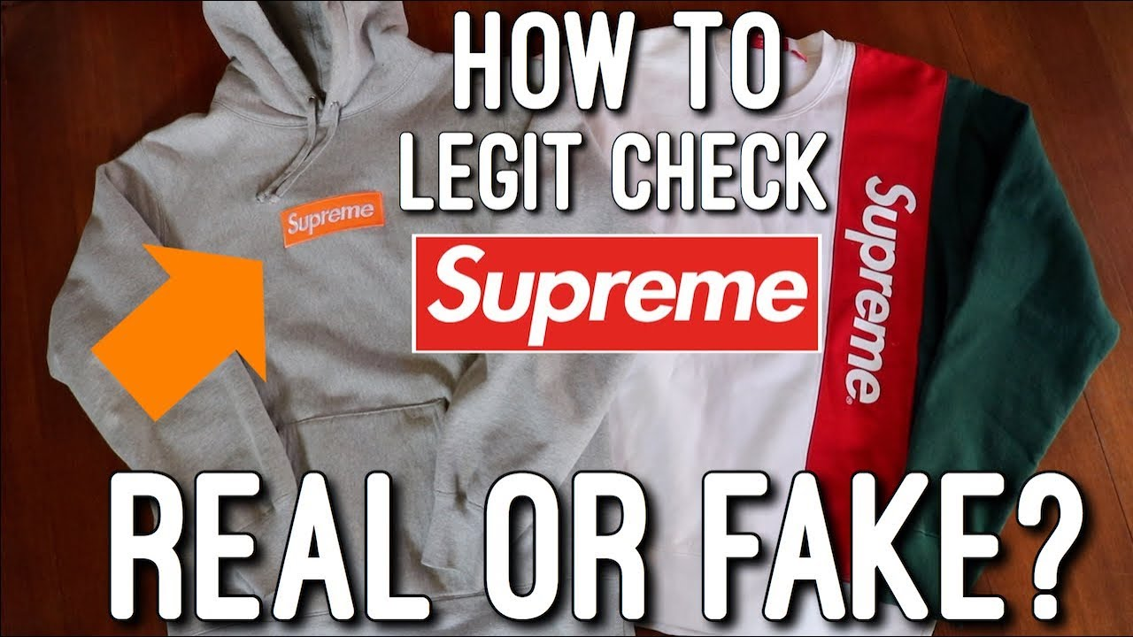 How To Legit Check Supreme Hoodies/Crewnecks! (Fake Vs  Real