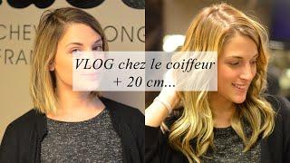 VLOG chez le coiffeur (extensions à clips, + 20 cm de cheveux)