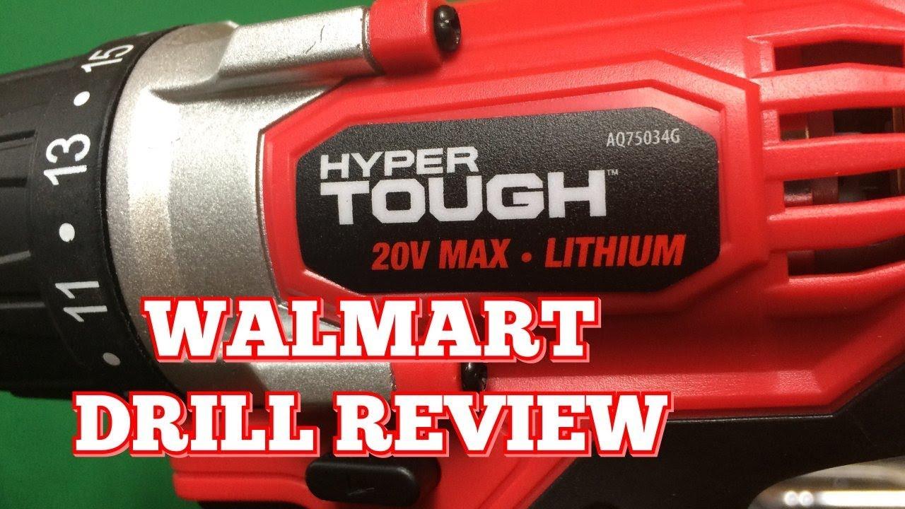 Hyper Tough 20 Volt Drill Review | The Walmart Drill!
