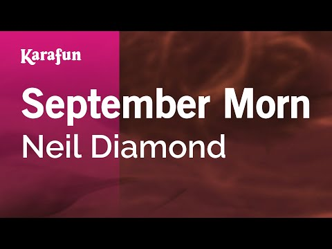 Karaoke September Morn - Neil Diamond *