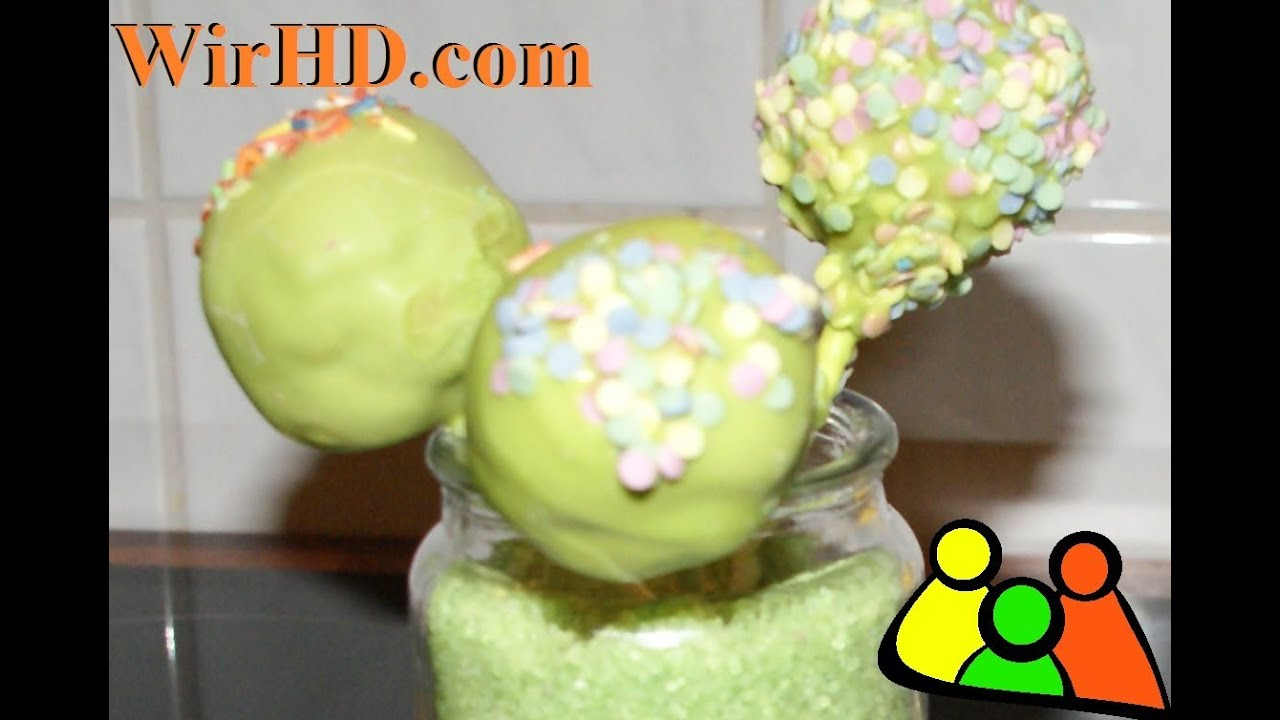 cake pops rezept zimt cakepops selber machen cake pops mit gr ner glasur youtube. Black Bedroom Furniture Sets. Home Design Ideas
