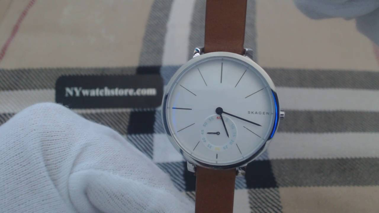 3469c1dbbd2c Women s Skagen Hagen Brown Leather Watch SKW2434 - YouTube