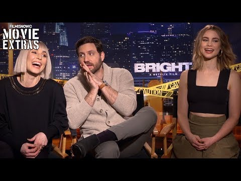 Bright (2017) Noomi Rapace, Edgar Ramírez & Lucy Fry talk about their experience making the movie streaming vf