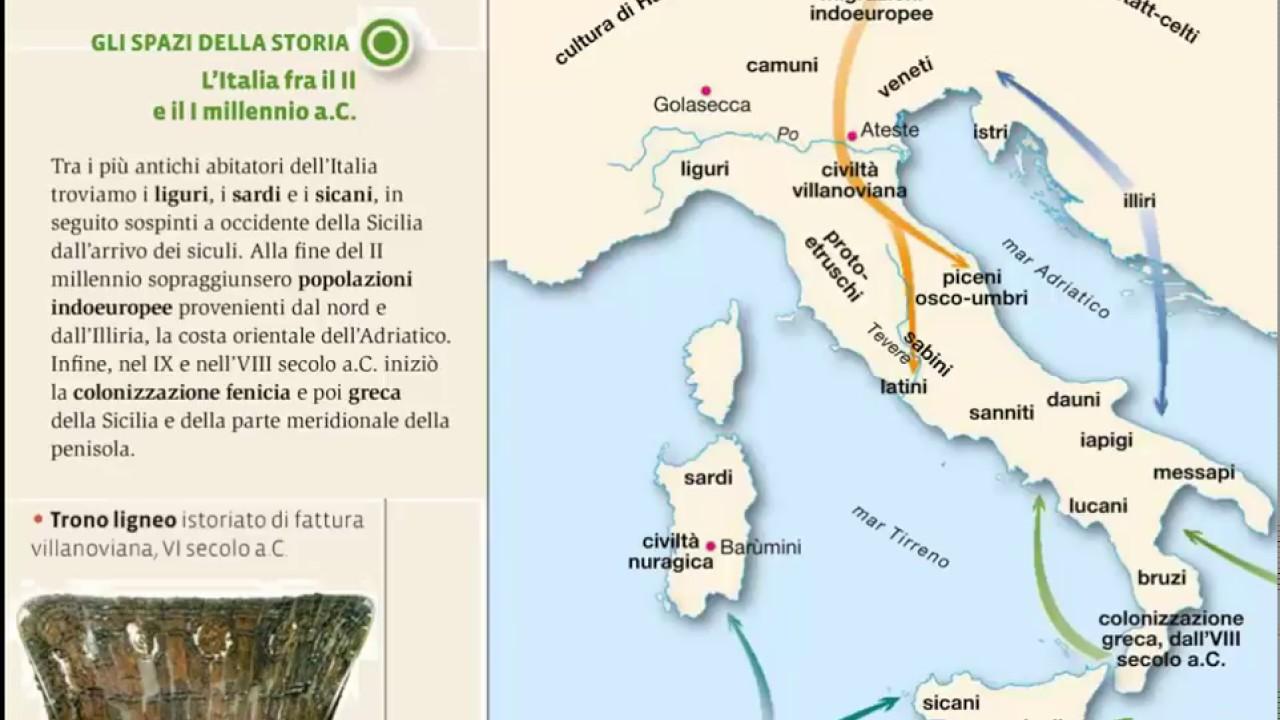 Cartina Dell Italia Al Tempo Degli Etruschi.L Italia Antica E Gli Etruschi Youtube