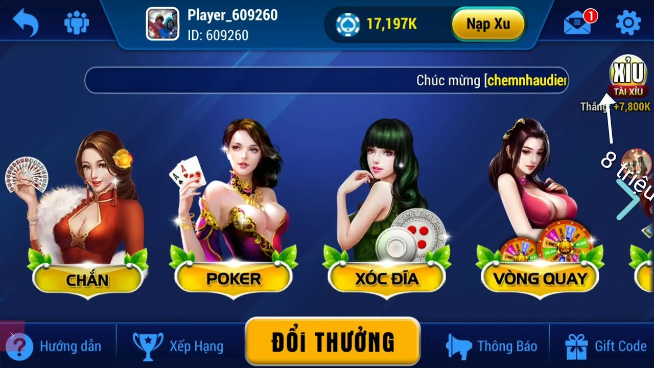 Cầm 10.000.000 fang69 quẩy  game gặp ngay thánh 265.000.000