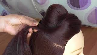 easy everyday hairstyle \\ hairstyle for college \\work \\party \\outgoing \\long hair hairstyle