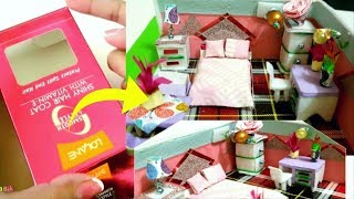 How to  make miniature Doll House bedroom