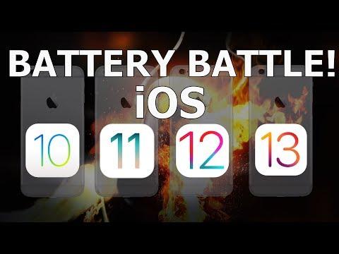 Battery Battle : iOS 10.3.3 vs iOS 11.4.1 vs iOS 12.4.1 vs iOS 13.2