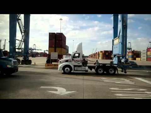 Ride along Charleston South Carolina port