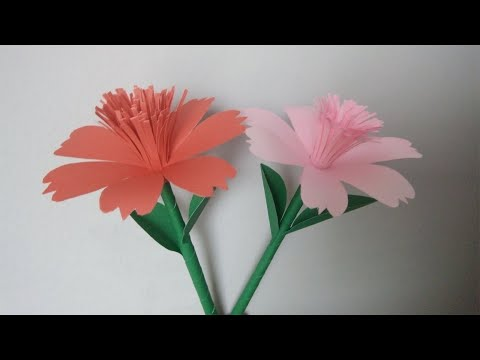 How To Make Handmade Easy Paper Flower | DIY Paper Flower Sticks | ZINAT Crafts