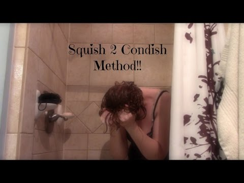 Squish to Condish Demo for wavy or curly hair! Adds moisture and definition!