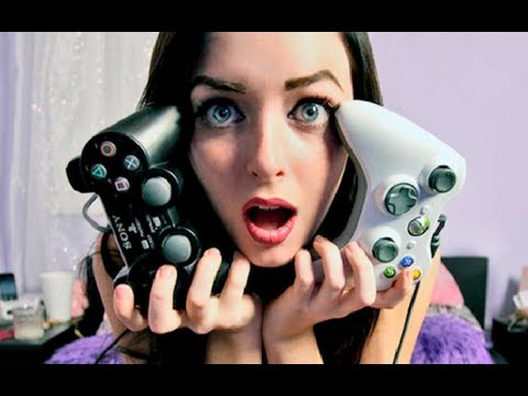 GIRLS PLAYING VIDEO GAMES?!! - YouTube