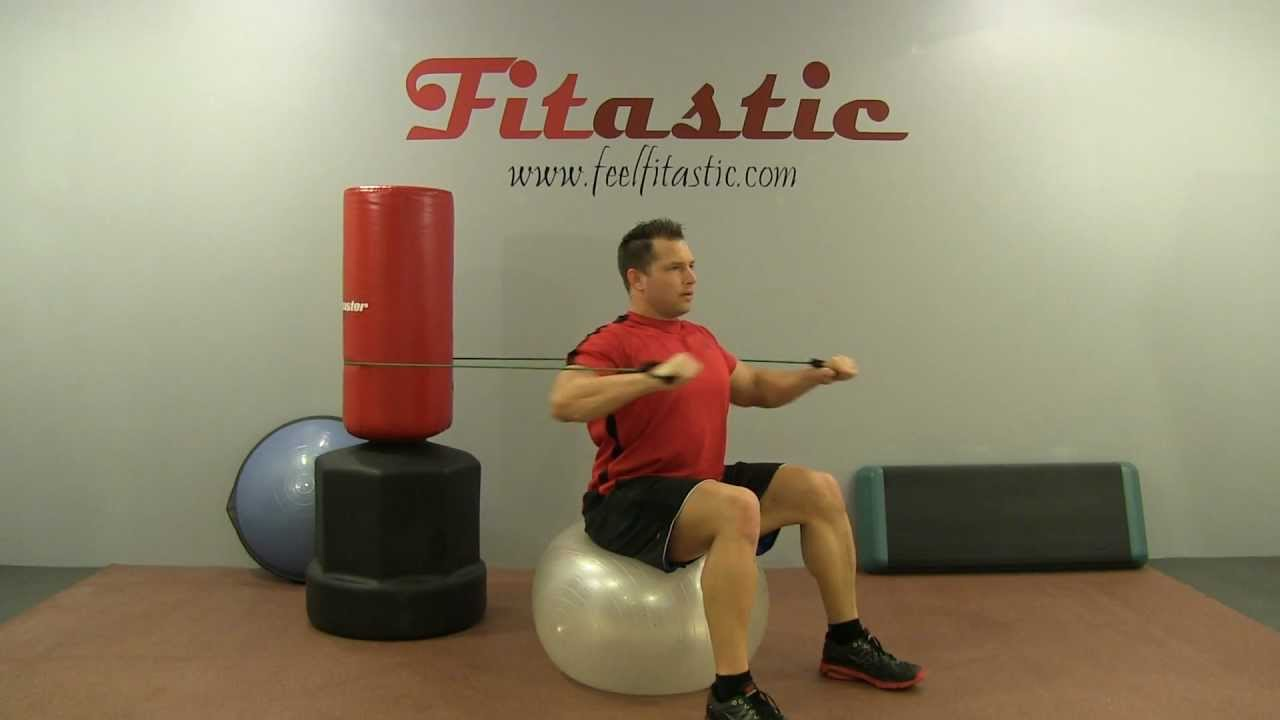Seated Resistance Band Chest Press Youtube