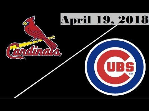 St. Louis Cardinals vs Chicago Cubs Highlights || April 19, 2018