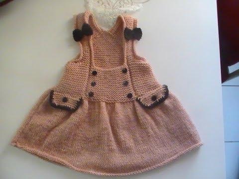 Robe Tunique Enfant Au Tricot 1 Partie