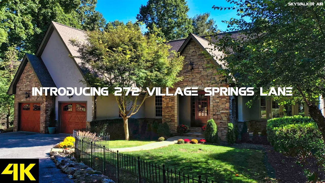 Introducing 272 Village Springs Lane, Hendersonville NC - Real Estate Drone Video 4K