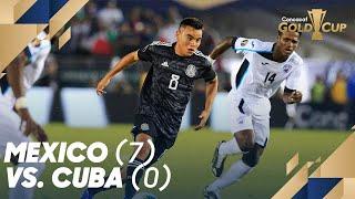 Mexico (7) vs. Cuba (0) - Gold Cup 2019