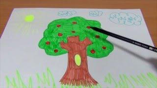 Обучающее видео для детей УЧИМСЯ РИСОВАТЬ ДЕРЕВО. Рисуем КАРАНДАШОМ ПОЭТАПНО дерево и разукрашиваем.(Обучающее видео для детей - УЧИМСЯ РИСОВАТЬ ДЕРЕВО. Рисуем карандашом ДЕРЕВО и разукрашиваем его. Развивающ..., 2015-12-18T15:34:42.000Z)