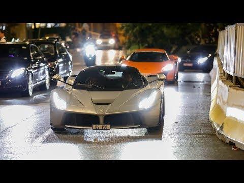 The EPIC Monaco Supercar Nightlife #3 (LaFerrari, Fabspeed 650S, iPE Aventador, Capristo R8 V10)