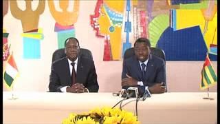 Coop�ration C�te d'Ivoire - Togo: s�jour du Pr�sident Alassane Ouattara au Togo