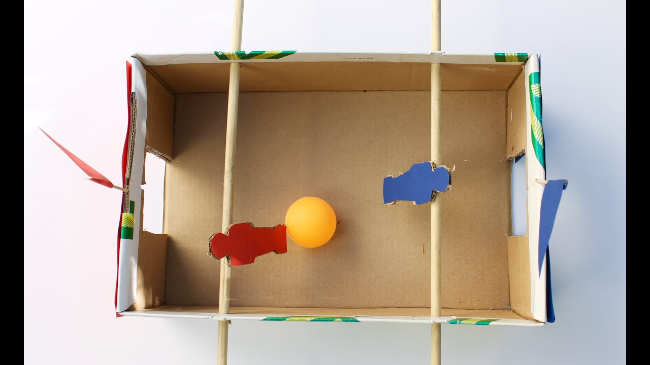 30 Shoe Box Craft Ideas: Easy Craft: How To Make A Shoebox Foosball Game