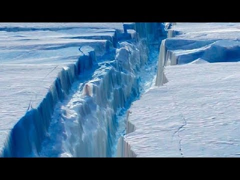 Larsen C of Antarctica Iceberg: is on the verge of rupture.