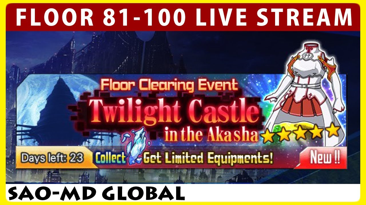 Twilight castle in the akasha floor 81 100 sao memory for Floor 100 boss sao