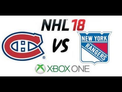 NHL 18 - Montreal Canadiens vs. New York Rangers - Xbox One