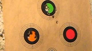 Benjamin Marauder .22 cal, 30 shots at 49 yards, CPHP 14.3gr pellets