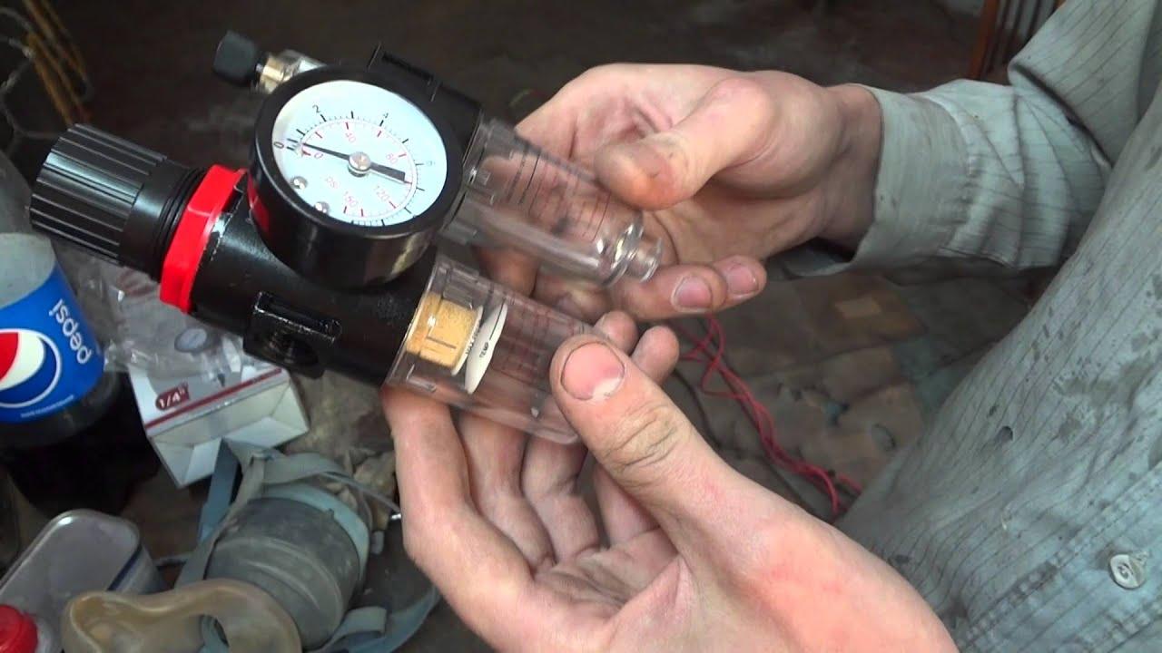 Подготовка воздуха для работы с краскопультом. ITALCO 99.998 .